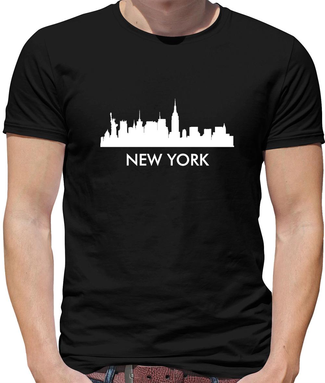 USA Ville Vue New York Silhouette T-Shirt Horizon