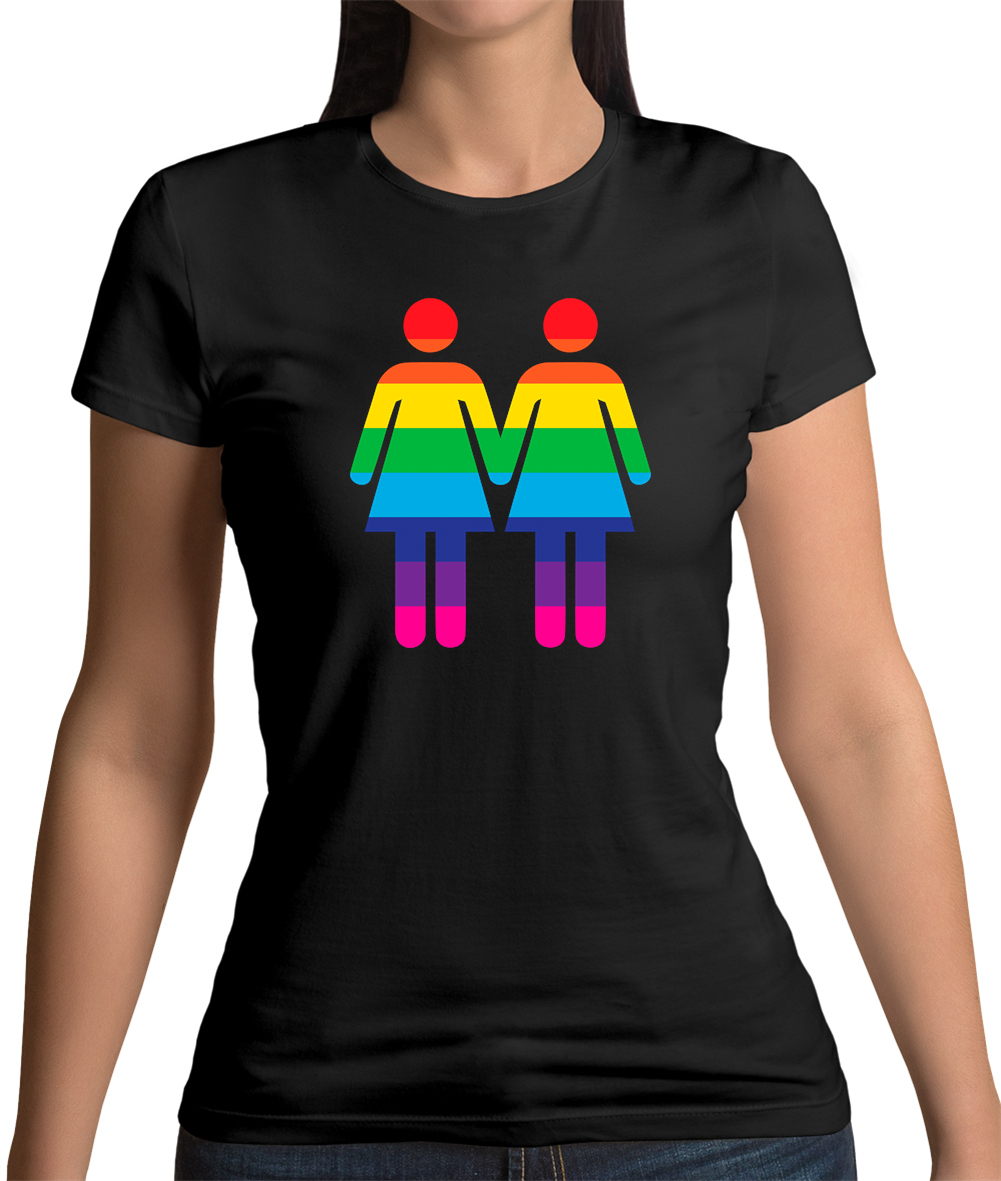 LGBTQ-Rainbow Lesbian Toilette Signe T-shirt femme-Pride-Gay-Homo