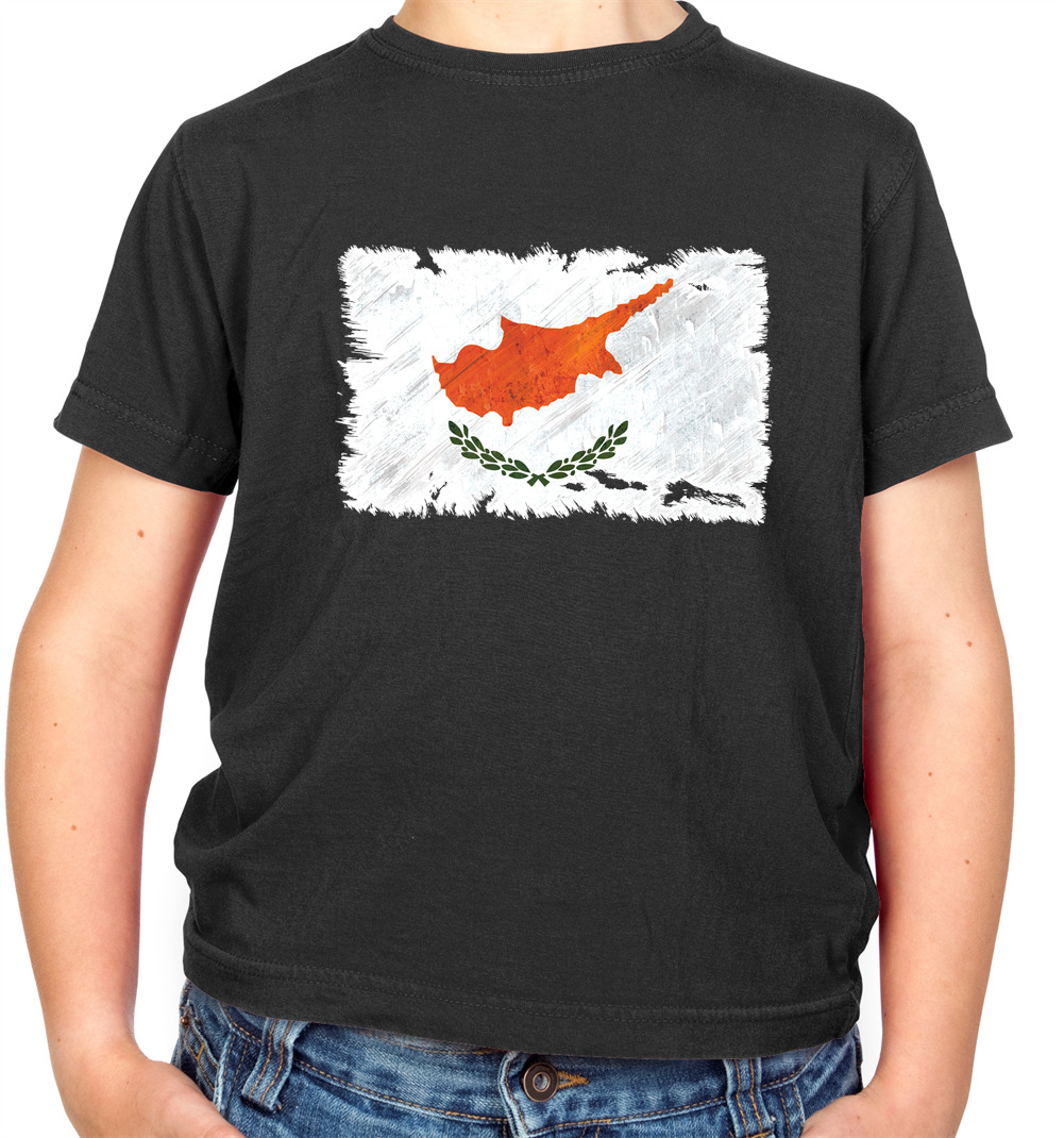 Cyprus Kid/'s T-Shirt Country Flag Map Top Children Boys Girls Unisex Cypriot