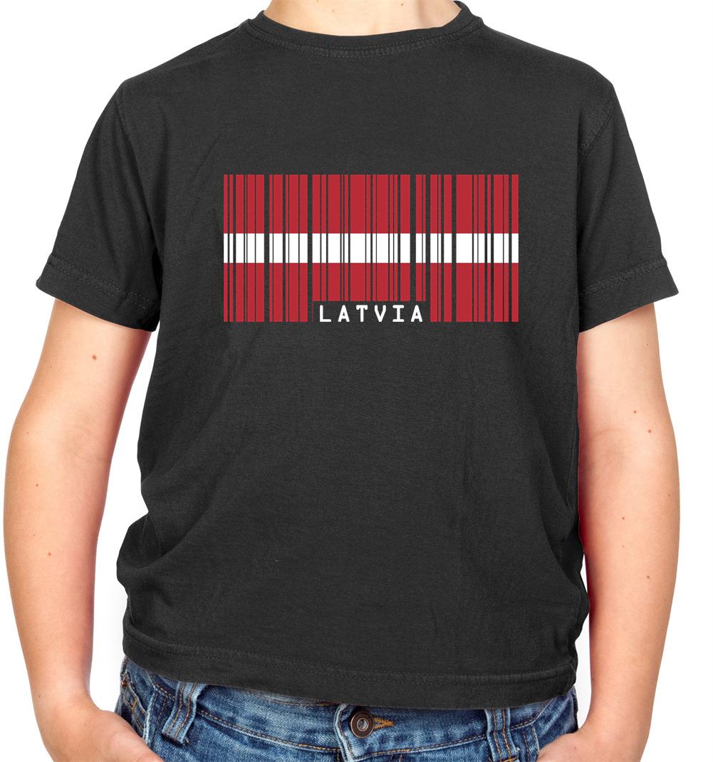 Latvia Kid/'s T-Shirt Country Flag Map Top Children Boys Girls Unisex