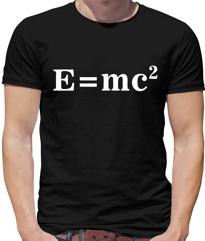 E=Mc2 einstein mens t shirt science equation formula maths
