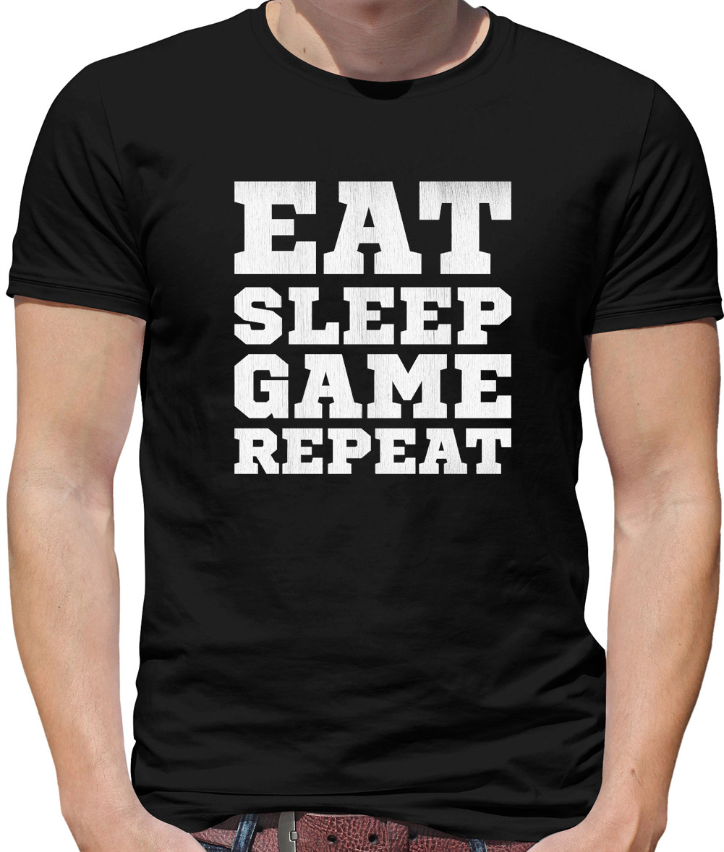 Eat Sleep MINE Repeat Mens ORGANIC T-Shirt MINECRAFT Slogan Gamer Geek Gaming
