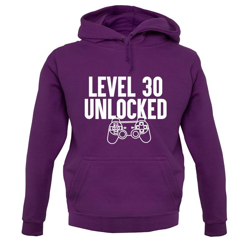tee Level 30 Unlocked Video Gamer 30th Birthday Unisex Sweatshirt