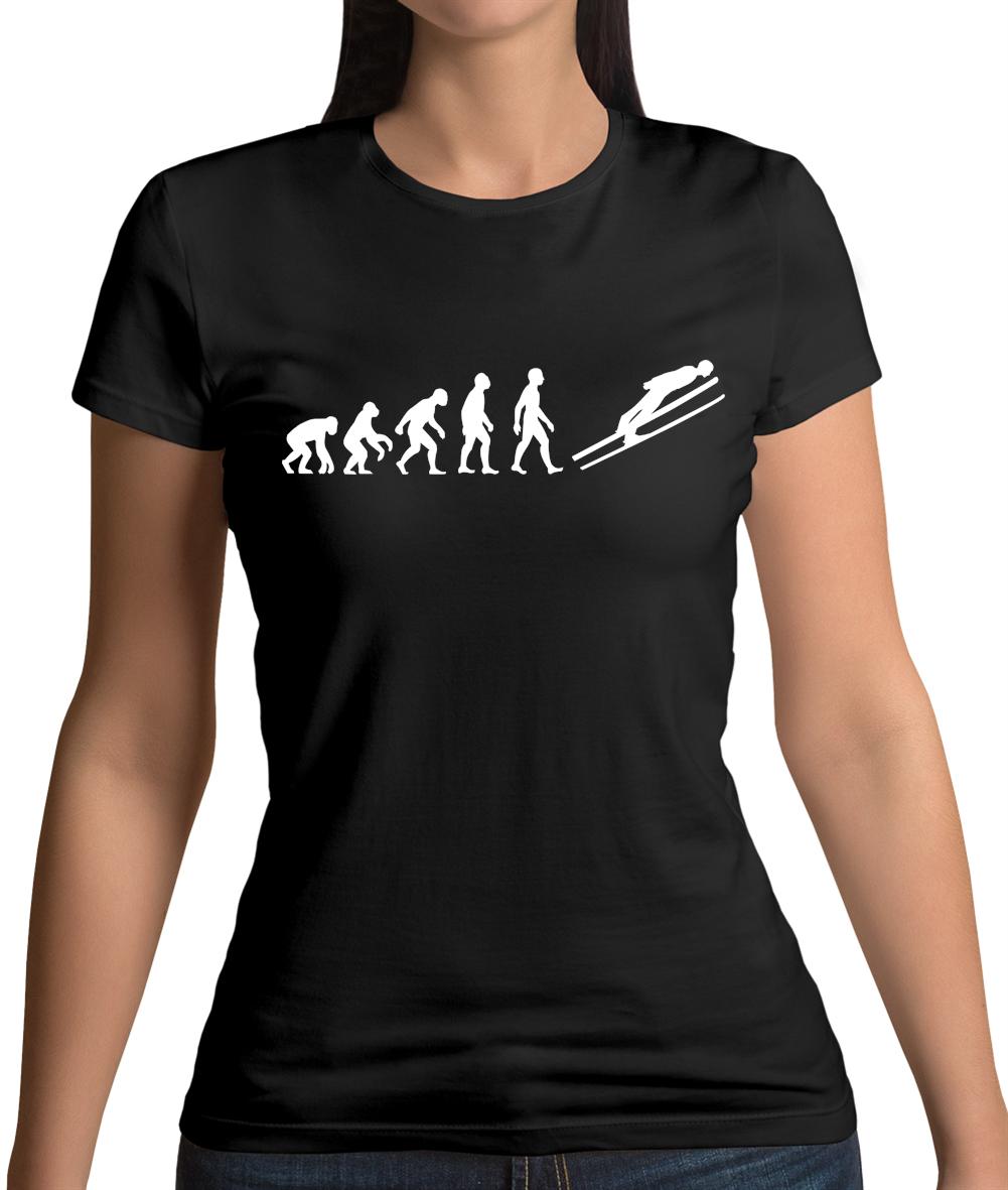 Sports Skiier Winter Sport Olympics Skiing Ski All Day Womens T-Shirt